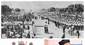 1. R Day 1963: A 3,500-strong contingent of Swayamsevaks in Ganvesh take part in the parade in Delhi. 2. Shri Vijay Kumar. 3. Shri KL Pathela