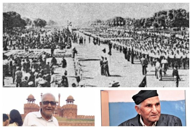 1. R Day 1963: A 3,500-strong contingent of Swayamsevaks in Ganvesh take part in the parade in Delhi. 2. Shri Vijay Kumar. 3. Shri KL Pathela